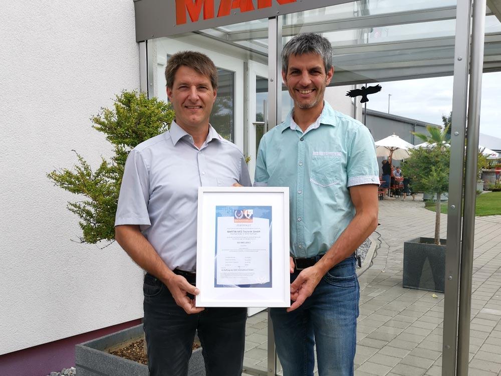 ISO 9001:2015 Zertifizierung erfolgreich abgeschlossen