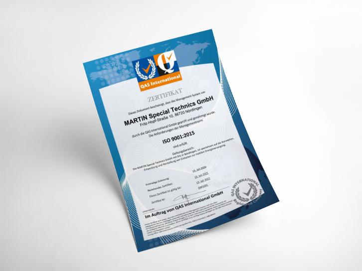 Martin Special Technics ISO-Zertifikat 2021